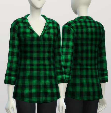 Sims 4 Oversized shirt F V2 designer label at Rusty Nail