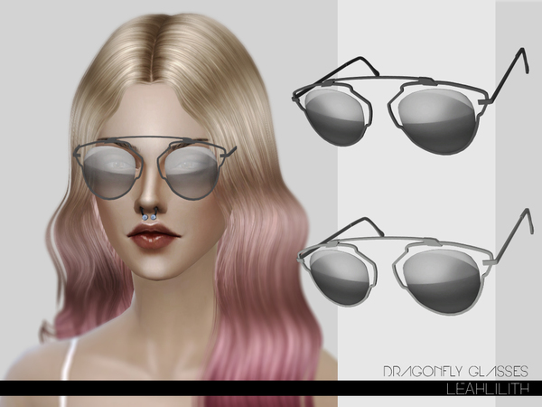 Sims 4 Dragonfly Glasses by LeahLilith at TSR