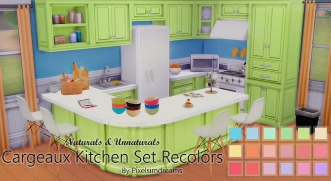 Sims 4 Cargeaux Kitchen Set Recolors at Pixelsimdreams