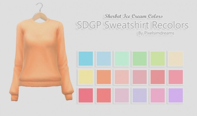 Sims 4 SDGP Sweatshirt & Twisted Tank Recolors at Pixelsimdreams