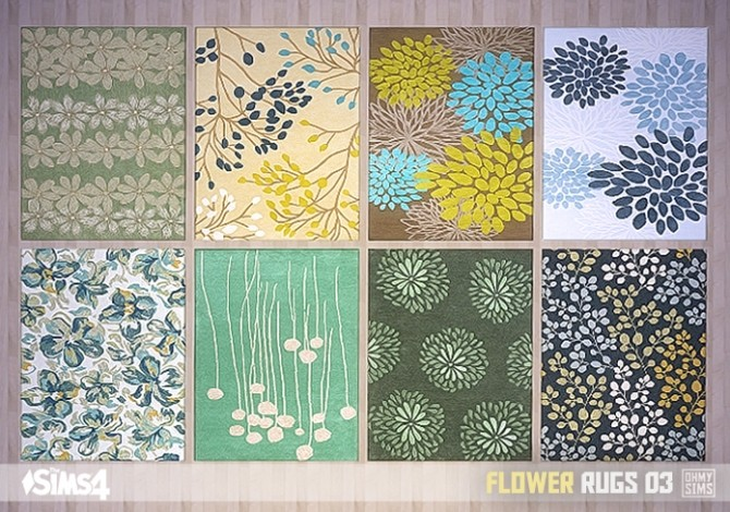 Flower Rugs 03 At Oh My Sims 4 187 Sims 4 Updates