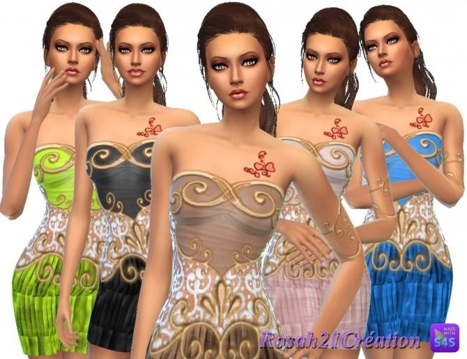 Entrelacs et dentelle dress by Rosah at Sims Dentelle image 10023 670x515 Sims 4 Updates