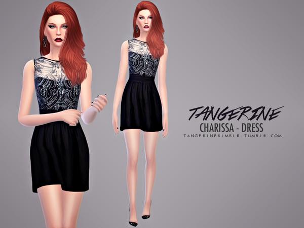 Sims 4 Charissa Dress by tangerinesimblr at TSR