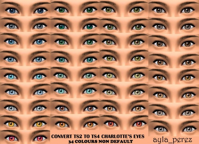 Sims 4 Eye Colors Non Default at Ayla's Sims
