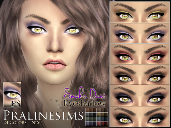 Smoke Dust Eyeshadow by Pralinesims at TSR image 1020 Sims 4 Updates