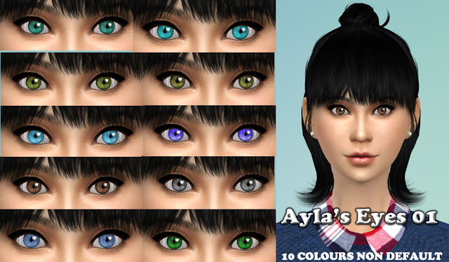 how to make default eyes for the sims 4