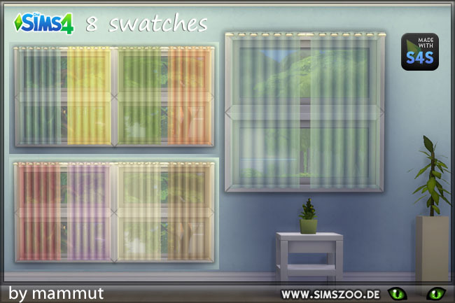 Sims 4 Curtain little1 pastel transparent by mammut at Blacky's Sims Zoo