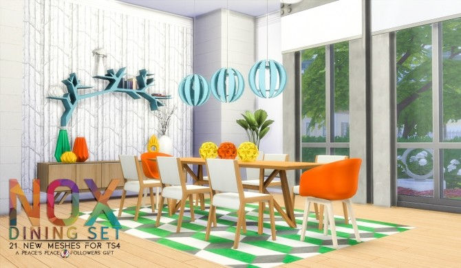 NOX Dining Set by Peacemaker IC at Simsational Designs image 103 670x390 Sims 4 Updates