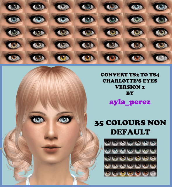 Sims 4 35 Eye Colors Non Default Version 2 at Ayla's Sims