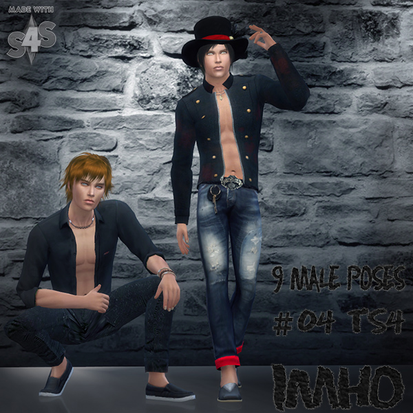 Sims 4 9 Male Poses #04 at IMHO Sims 4
