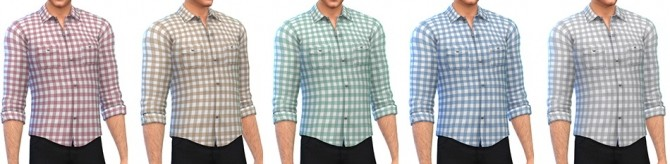 Sims 4 Checked Shirt by Rope at Simsontherope