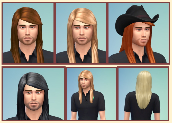 Sims 4 Long Straight Hair for males at Birksches Sims Blog