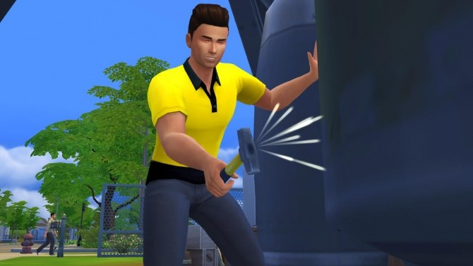 High Visibility Tradesmen Short Sleeve Shirt by Deontai at Mod The Sims image 10517 670x377 Sims 4 Updates