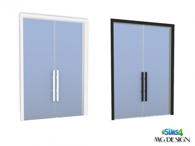 Nova Double Door At Mg Design Sims4 187 Sims 4 Updates
