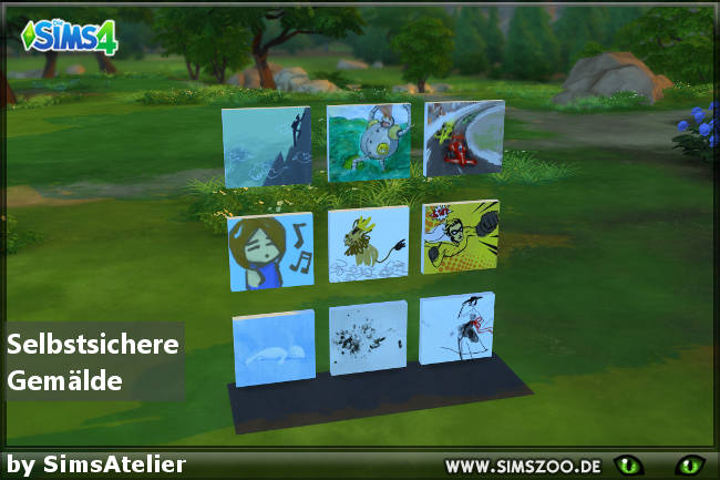 Sims 4 Paintings by SimsAtelier at Blacky's Sims Zoo