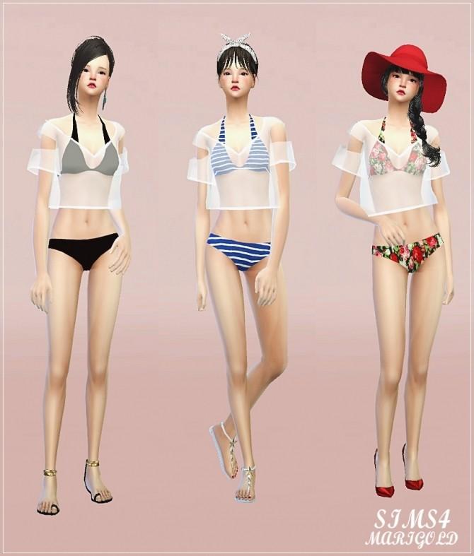 Layering tee bikini at Marigold image 1096 670x787 Sims 4 Updates