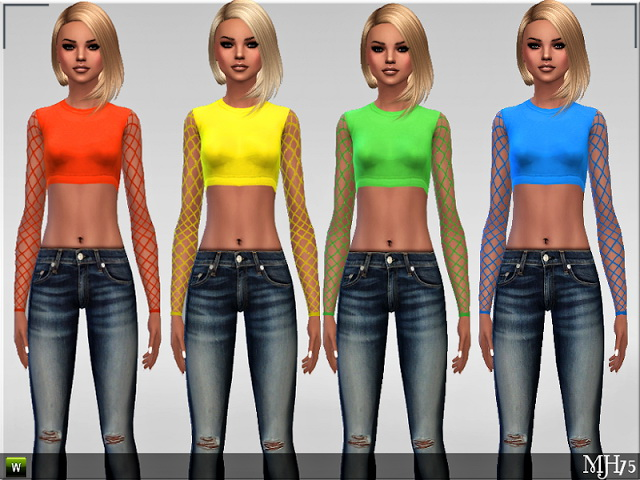 Sims 4 CoolNet Teen Tops by Margie at Sims Addictions