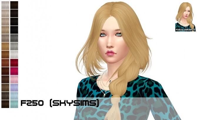 Sims 4 Skysims 250 + 251 hair retextures at Porcelain Warehouse