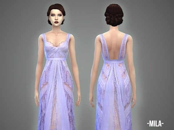 Mila gown by April at TSR image 1113 Sims 4 Updates