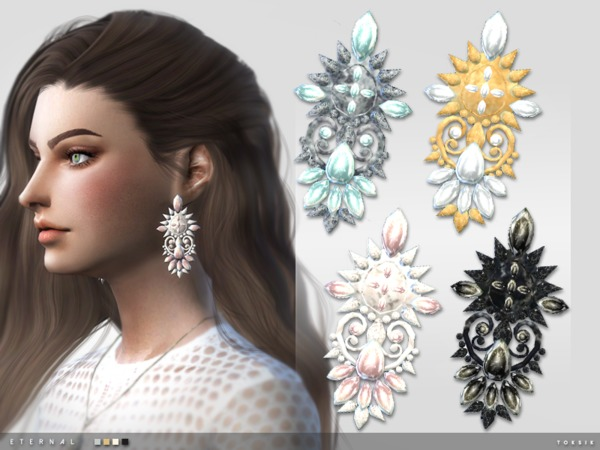Eternal Earrings by toksik at TSR image 1115 Sims 4 Updates