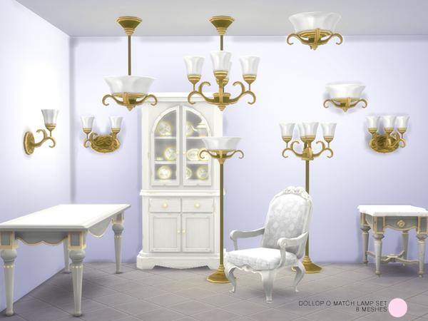 Dollop O Match Lamp Set by DOT at TSR image 1126 Sims 4 Updates