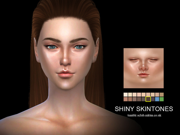 Sims 4 SHINY Skintones (F)1.0 by S Club WMLL at TSR