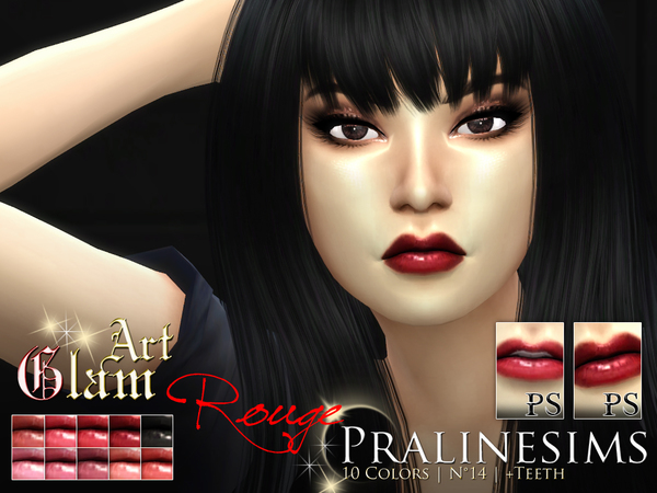 Art Glam Rouge Lipstick Set by Pralinesims at TSR image 1130 Sims 4 Updates
