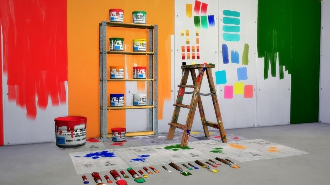 Sims 4 The DIY Painter Set at Budgie2budgie