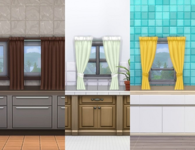 Simple Curtains By Plasticbox At Mod The Sims 187 Sims 4 Updates