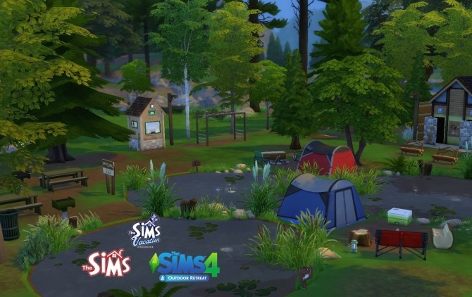 Sims 4 Sims 1 to 4! Rangers Ranch Campground by Sortyero29 at Mod The Sims