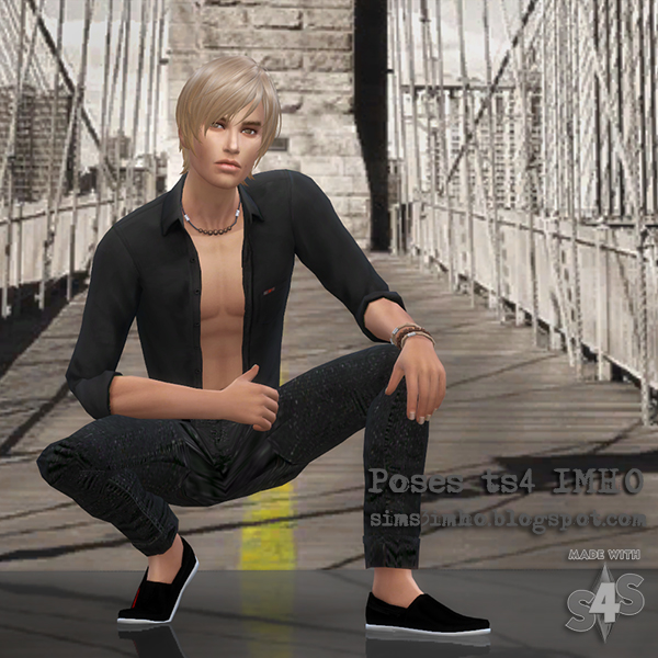 9 Male Poses #04 at IMHO Sims 4 image  Sims 4 Updates