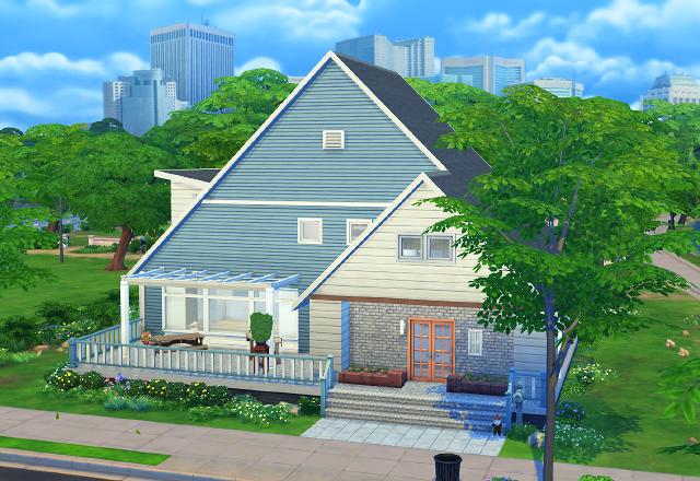 Sims 4 Gable house at Imadako