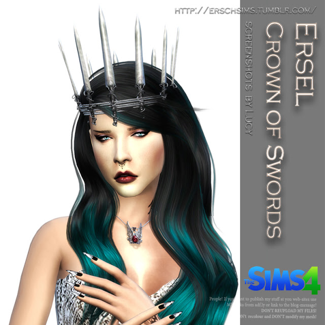 Sims 4 Crown of Swords by Ersel at ErSch Sims
