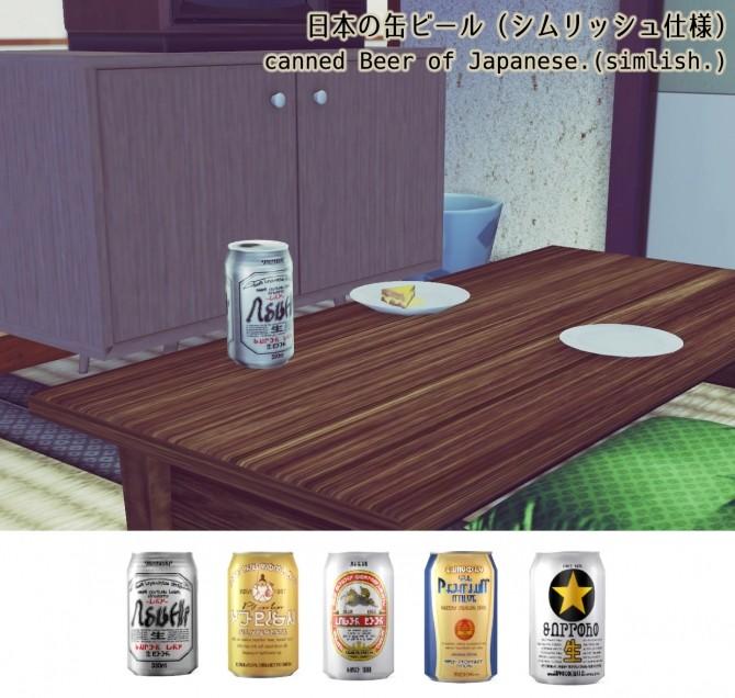 Sims 4 Canned Beer set at Imadako