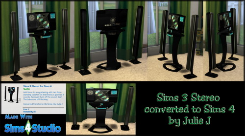 3T4 Stereo Converted at Julietoon – Julie J image 1201 Sims 4 Updates