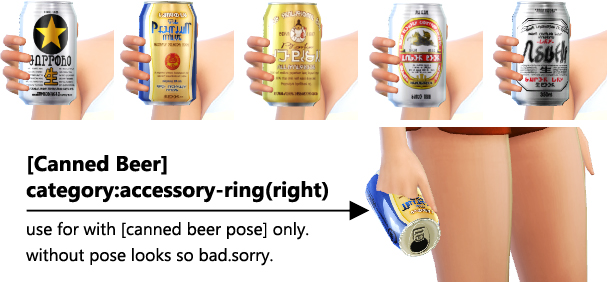 Sims 4 CAS canned beer set: acc. + background + pose at Imadako