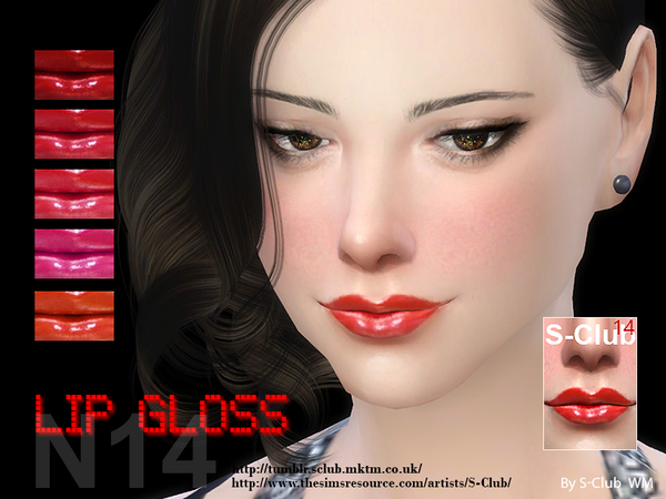 Sims 4 Lipstick 14 by S Club WM at TSR