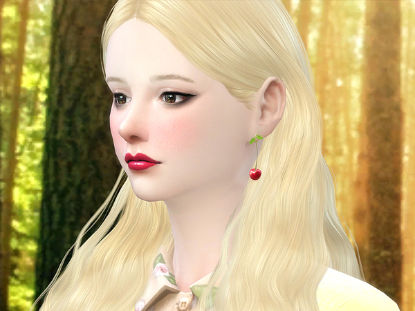 Cherry earring by S Club MW at TSR image 12124 Sims 4 Updates