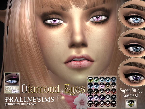 Diamond Eyes By Pralinesims At Tsr 187 Sims 4 Updates