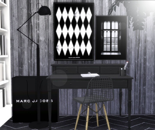 Designer posters 2 + industrial wallpaper collection at Hvikis image 1233 Sims 4 Updates