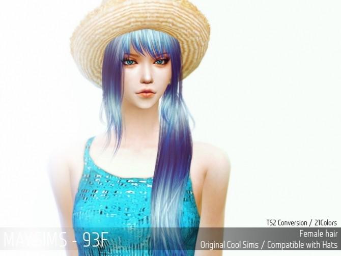 Sims 4 Hair 93F (CoolSims) at May Sims