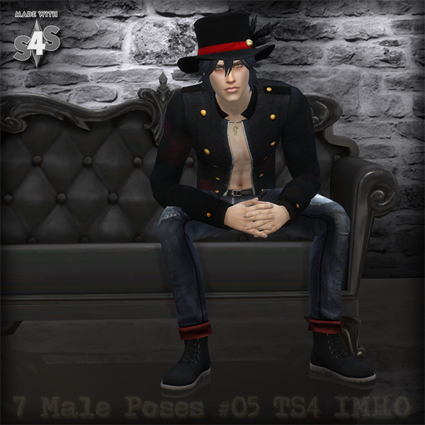 7 Male Poses #05 at IMHO Sims 4 image  Sims 4 Updates