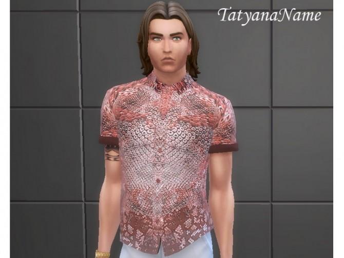 Sims 4 Men's shirt 02 at Tatyana Name