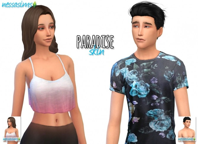 Paradise skin at nessa sims image 12812 670x490 sims 4 updates