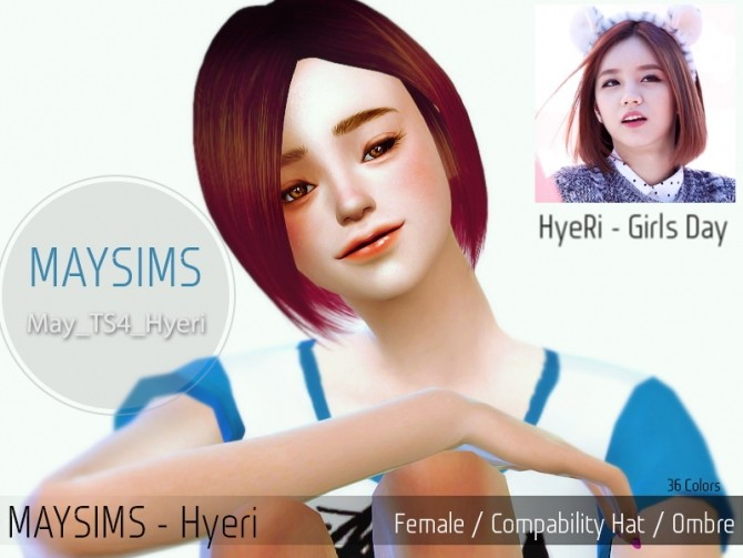 Hyeri hair (Pay) at May Sims image 130 670x503 Sims 4 Updates