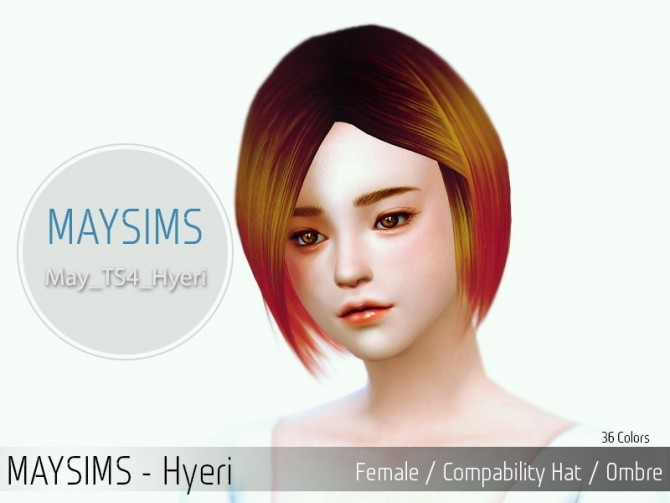 Hyeri hair (Pay) at May Sims image 131 670x503 Sims 4 Updates