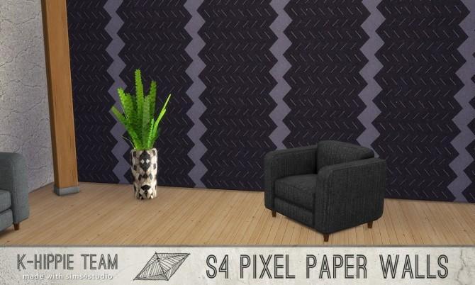 7 Walls Pixel Paper serie vol 1 at K hippie image 13123 670x402 Sims 4 Updates