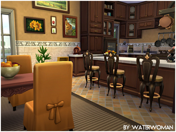 Sims 4 Colonial Dream house by Waterwoman at Akisima