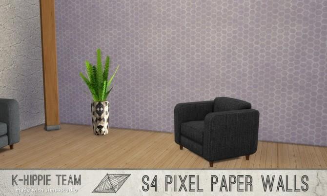 7 Walls Pixel Paper serie vol 1 at K hippie image 13220 670x402 Sims 4 Updates