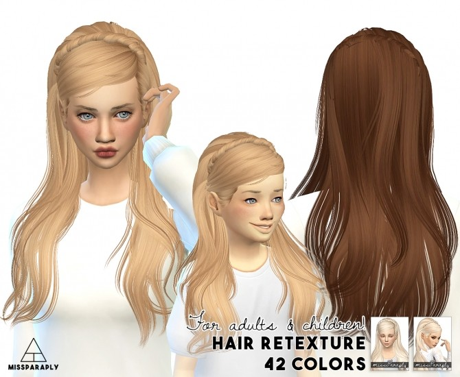 Hair retexture Maysims 04 F C at Miss Paraply image 1323 670x550 Sims 4 Updates
